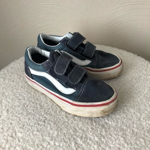 Boys youth old skool Velcro vans 10.5